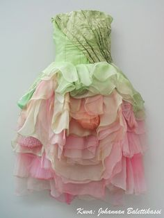 Rose-inspired tutu for Finnish National Ballet's Sleeping Beauty.