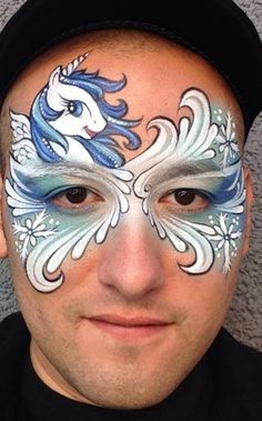 Ronnie Mena - unicorn mask -Absolutely this whole design!! His teardrops are amazing.