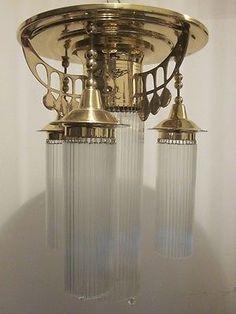 Deckenlampe Flur Koloman Moser chandelier