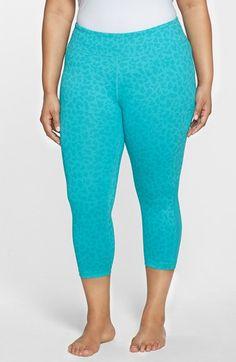 plus size fila sport skimmer workout capri leggings, women's, size