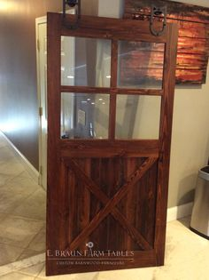 custom barn door, made using reclaimed barn wood, handcrafted in the heart of Amish country, Lancaster County, Pennsylvania © 2017 E. Braun Farm Tables and Furniture, Inc.™