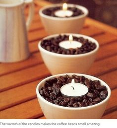 Coffee candles. Smell amazing!