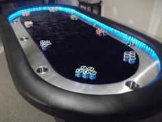 Poker table For the man cave Bar Games, Table Games, Game Tables, Poker Table Plans, Poker Table Diy, Custom Poker Tables, Roulette Table, Board Game Table, Ultimate Man Cave