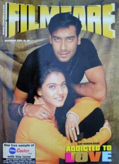Kajol and Ajay on Filmfare