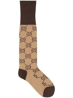 120 Gucci GG pattern cotton blend socks - Neutrals Gucci Fashion 23a340ac08
