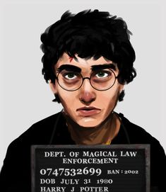 Mugshot Of Famous Character From Banned Books   --   Harry Potter.   --  According to the American Library Association, the Harry Potter books are the most challenged books of the 21st century due to their focus on magic.