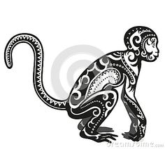 Ethnic ornamented monkey