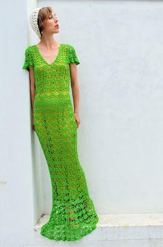 Bamboo crochet dress. Cotton beret. vivrutdesigns.blogspot.com