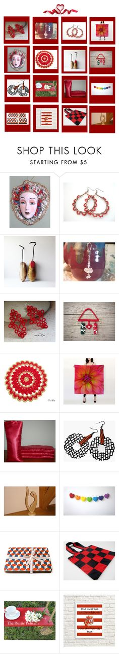 Reds by therusticpelican on Polyvore featuring modern, rustic and vintage