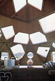 memories of tub in old house...with a less extraordinary skylight      houseboat: floating homes 1977