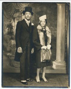 """love2sepia:  A very dapper gentleman and his lady. Adler and Adler Studio Collection, Detroit MI.   """"Black History Album…The Way We Were"""" Find us on Pinterest, Tumblr, Twitter and Facebook"""