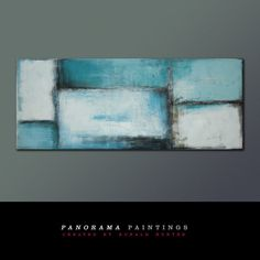 Landscape Abstract painting  Blue Lots door PanoramaPaintings, $419.00