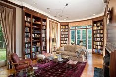 A luxury home library, Bayberry Lane Greenwich, CT 06831