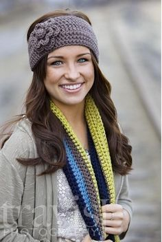 Ive seen knitted earwarmers all over, but since I love to design in crochet, I set out to make one that was my original take on this trendy fashion