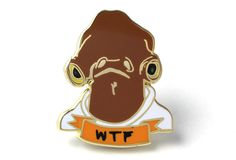 Admiral Ackbar Lapel pin by deerdana. pintrill. $15.00