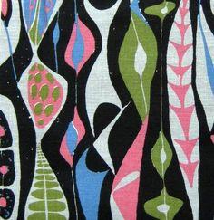 Stig Lindberg fabric vtg retro 40s 50s revival Scandinavian DIY cushion bulbous | eBay