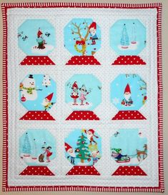 Snow Globe Mini Quilt | Pinkadot Quilts | Bloglovin'