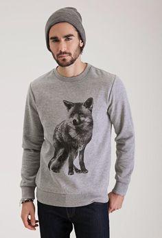 Sweatshirt met Afbeelding van Vos - Sweatshirts & Hoodies - 2000099498 - Forever 21 EU