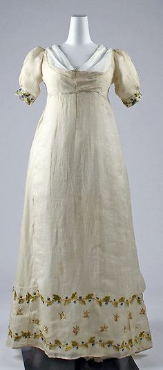 dress 1807-1810 The Metropolitan Museum of Art