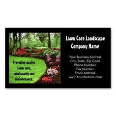 Plush Green Landscape Lawn Care Business Card