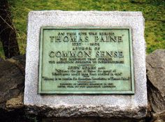 Grave Marker- Thomas Paine, writer (Age of Reason, Common Sense). Cemetery Headstones, Cemetery Art, Thomas Paine, Famous Graves, American Revolutionary War, Freedom Fighters, Grave Memorials, Kinds Of People, American History