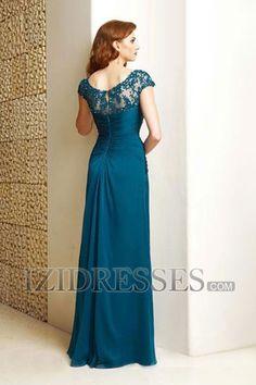 A-Line Square Chiffon Mother Of The Bride Dresses - IZIDRESSES.COM