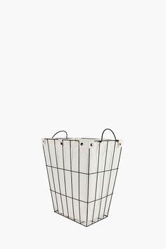 Lined Wire Laundry Basket Large - Bedroom Storage - Shop Bedroom - Bed