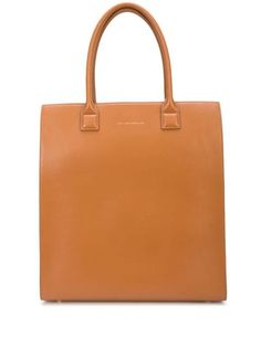 WANT Les Essentiels Aberdeen tote bag - Brown Aberdeen, Logo Stamp, Tote Bag, Embossed Logo, World Of Fashion, Tan Leather, Luxury Branding, Women Wear, Unisex
