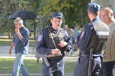 Policemen of the Donetsk People's Republic in Donetsk armed AKS-74U ★ 20 сентября 2014