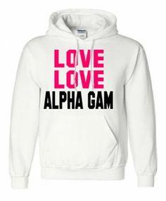 Alpha Gamma Delta Love Love Hoodie #AGD #hoodies #sororityclothing