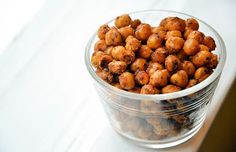 These Spicy Baked Chickpeas are better than any boring bar snack - and better FOR you!