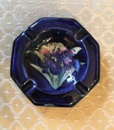 Items similar to Vintage Moorcroft Orchid Ashtray on Etsy Orchids, Unique Jewelry, Pottery, Handmade Gifts, Antiques, Etsy, Vintage, Ceramica, Kid Craft Gifts