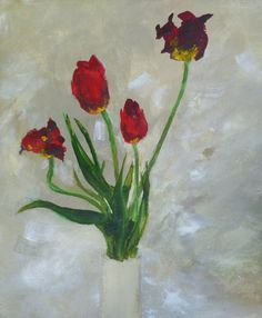 Tulips by Douglas Davies RSW Royal Society, Glasgow, Tulips, Contemporary Art, Watercolor, History, Artist, Painting, Pen And Wash