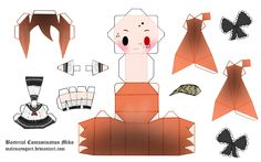 Bacterial Contamination Miku Papercraft by ~MalenaYogurt on deviantART