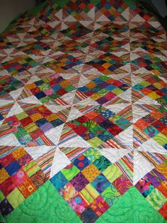 retreat pinwheels plus 16 patches for Jerri's granddaughter Maddie