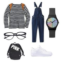 """""""Untitled #1"""" by egalita-azzahra ❤ liked on Polyvore featuring J.Crew, NIKE and Victoria's Secret"""