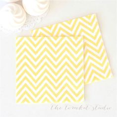 Chevron Napkins - Yellow for $7.99 from The TomKat Studio Party Shop