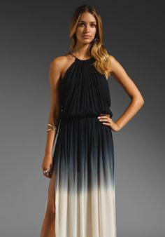 YOUNG, FABULOUS & BROKE Yosemite Ombre Dress in Grey at Revolve Clothing - Free Shipping!