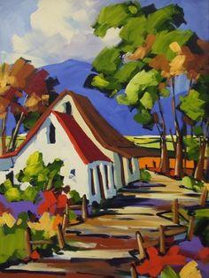 Painting i like Art Aquarelle, Watercolor Paintings, Landscape Art, Landscape Paintings, Acrilic Paintings, South African Art, Naive Art, Lovers Art, Art Pictures
