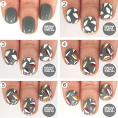 Step By Thanksgiving Nail Art Tutorials