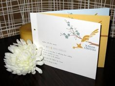 $5.00 Art Deco Love Birds Wedding Invitations by ruffhouseart on Etsy