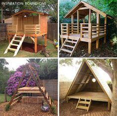 Backyard Fort, Backyard Playhouse, Backyard Playground, Backyard For Kids, Backyard Landscaping, Backyard Play Areas, Landscaping Ideas, Diy Backyard Projects, Desert Backyard