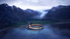 """Snøhetta unveils plans for """"energy positive"""" Arctic Circle hotel.    """"Building in such a precious environment comes with clear obligations in terms of preserving the natural beauty and the fauna and flora of the site,"""" said Snøhetta's founding parter, Kjetil Trædal Thorsen, in a statement.    """"It was important for us to design a sustainable building that will leave a minimal environmental footprint on this beautiful northern nature."""""""