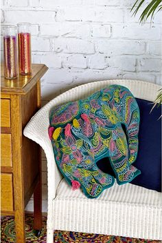 Love the bright colours on this cushion - ideal for someone who likes their interiors to stand out!