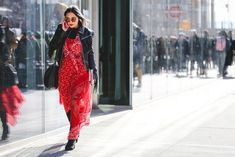 Lessons In Layering From The Streets Of New York City #refinery29  http://www.refinery29.com/2016/02/103173/ny-fashion-week-fall-winter-2016-street-style-pictures#slide-15  A full-body bandana isn't something we've seen before, but we definitely don't hate it....