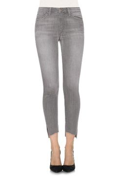 Free shipping and returns on Joe's Cool Off - Charlie Step-Up Hem Skinny Jeans (Jasmyn) at Nordstrom.com. Crafted from Joe's lightweight stretch-denim blend of cotton and CoolMax® polyester, these skinny jeans are designed to wick moisture away from the skin, keeping you cool and dry on the warmest days. The faded grey wash keeps this style perfectly laid-back for summer, and vented, raw-cut uneven hems keep the style completely on trend.