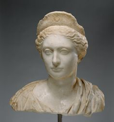 Unknown (Roman) - Bust of a Woman, about 130, Marble,  43 × 42.1 × 24 cm (16…