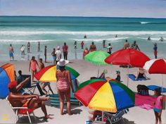 Buy 'Sun-Day', an original painting on canvas by Alex Marmarellis, size 64 x 48 x available at StateoftheART. Paintings For Sale, Original Paintings, Cape Town, Online Art Gallery, Seaside, Artworks, Sunday, African, Inspired