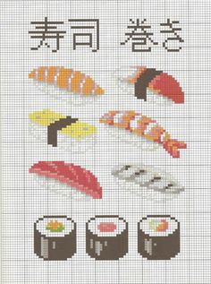 Sushi Cross Stitch Patterns