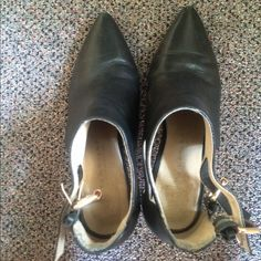 black booties from Paris !!! Size 39 European, worn a bit Shoes Ankle Boots & Booties